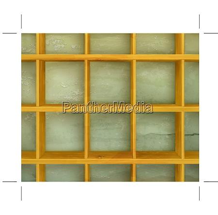 wooden shelves vector background