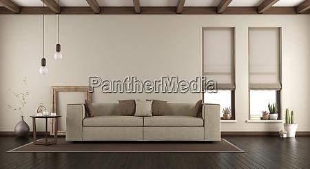 elegant living room with sofa on