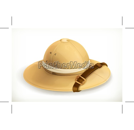 pith helmet vector icon
