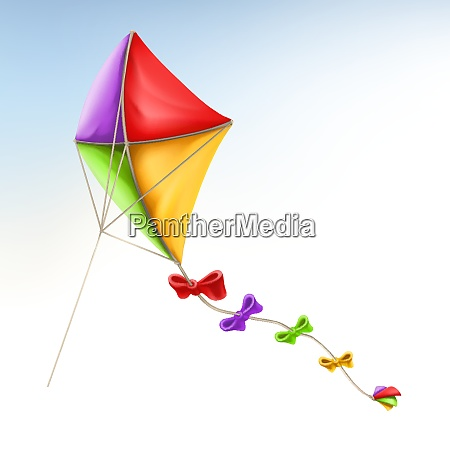 kite 3d vector icon