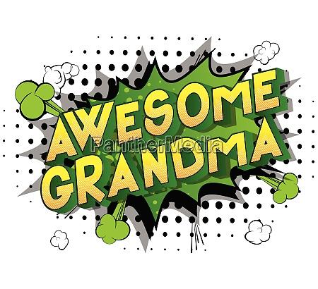awesome grandma comic book style
