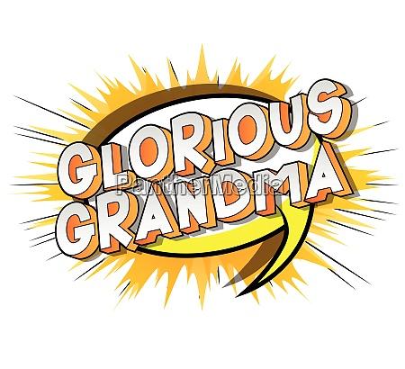 glorious grandma comic book style