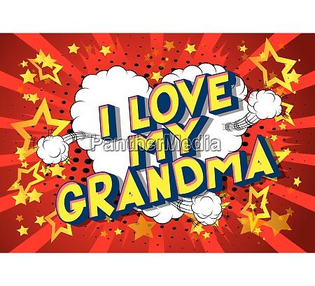 i love my grandma comic