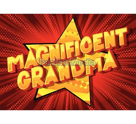 magnificent grandma comic book style