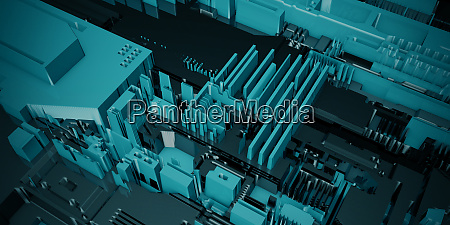 close up on circuit board