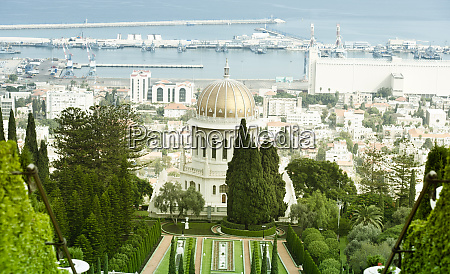 bahai gardens and temple on the