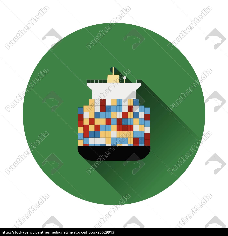 container, ship, icon - 26629913