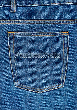 blue jeans back pocket full frame