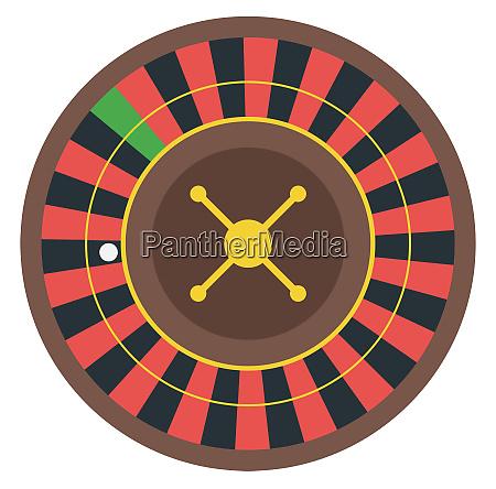 casino roulette illustration gambling game