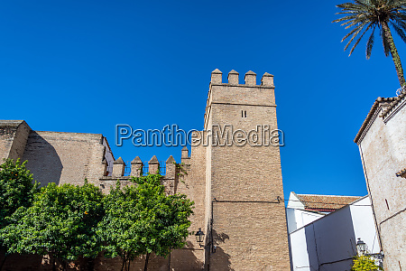 imposing medieval architecture in seville spain