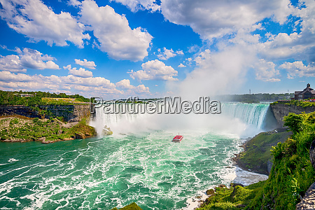 famous waterfall niagara falls in canada