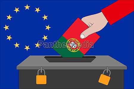 portugal ballot box for the european