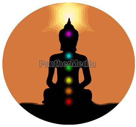 healing chakras buddha mindfulness spiritual meditation
