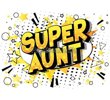 super aunt comic book style