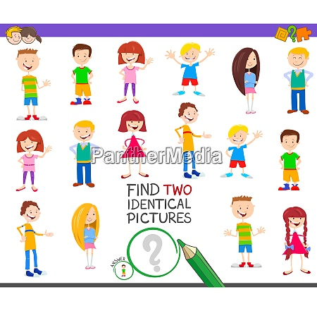 find two identical kid educational game