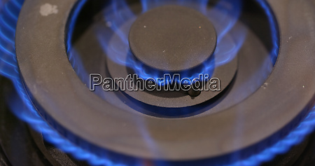 gas burning from a kitchen gas