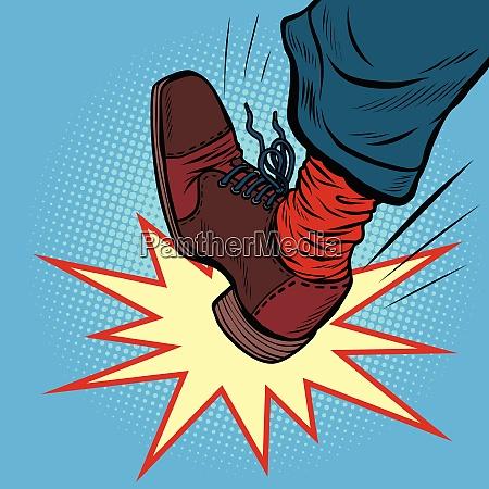 man leg kick anger aggression