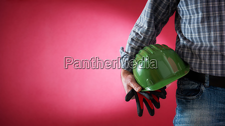 house painter worker with helmet and