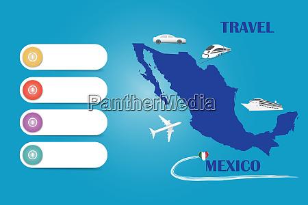 travel mexico template vector