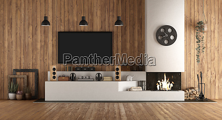 home, cinema, in, rustic, stryle, with - 26648355