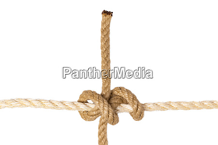 rope isolated closeup of figure rolling