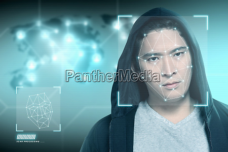 young asian man in black hoodie