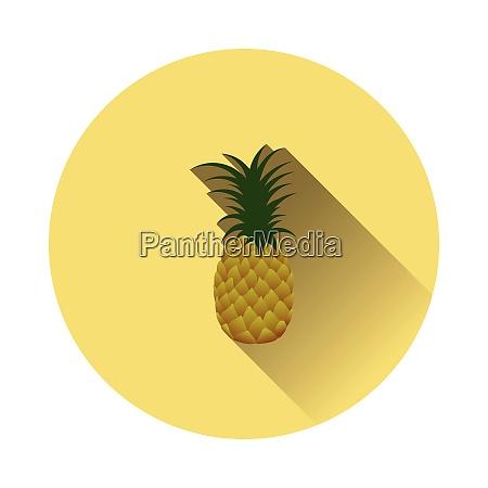 flat design icon of pineapple