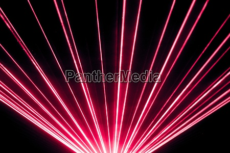 red laser show nightlife club stage