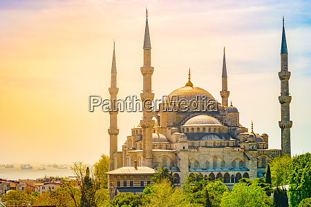 minarets and domes of blue mosque