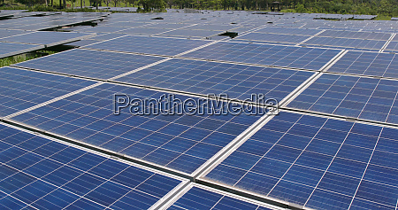 solar panel power plant at outdoor