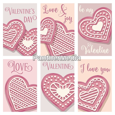 love card collection with pink