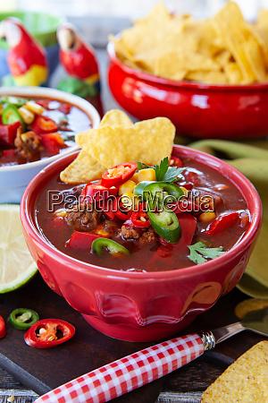 hot chili con carne