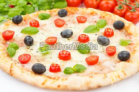 pizza margarita margherita baking ingredients close