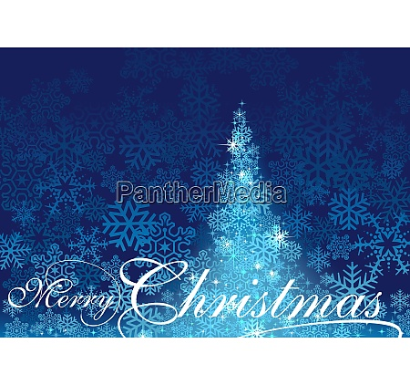 blue abstract christmas tree background