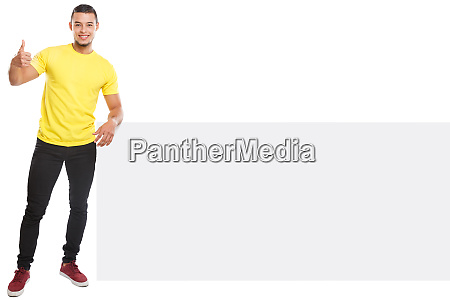 young latin man success successful copyspace