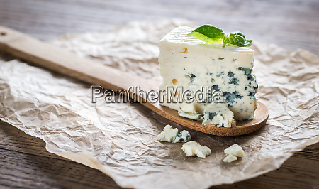 piece of the blue cheese on