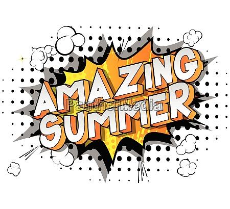 amazing summer comic book style