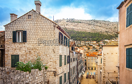 in the old town of dubrovnik