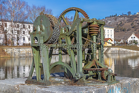 historic winch at old port of