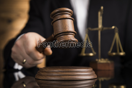 judge male judge in a courtroom