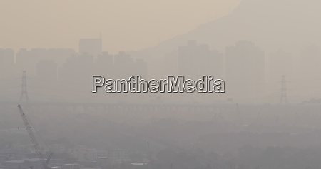 serious air pollution in hong kong