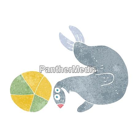 cartoon seal balancing ball