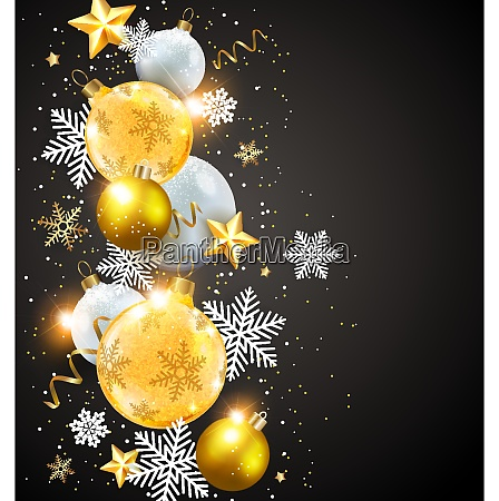 abstract vector christmas card with snowflakes