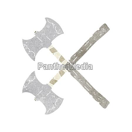cartoon crossed axes