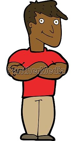 cartoon muscular man