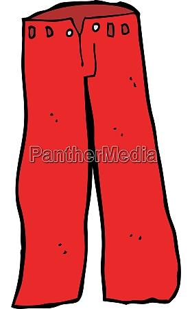 cartoon red pants