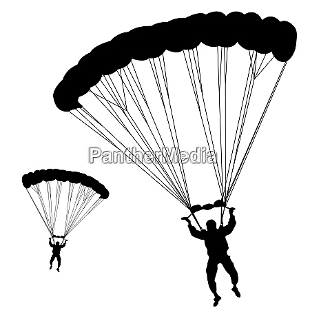 jumper black and white silhouettes vector