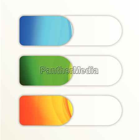 set of colorful softness banners