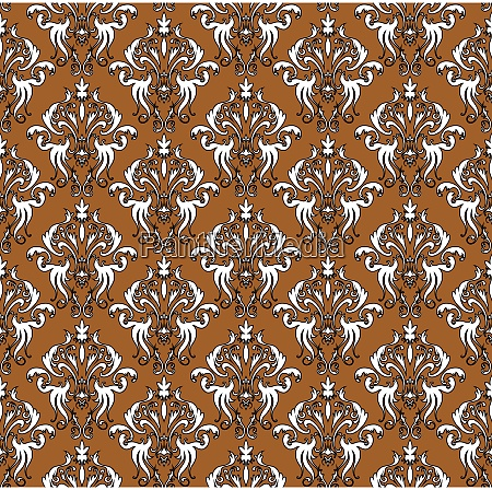 damask seamless outline pattern