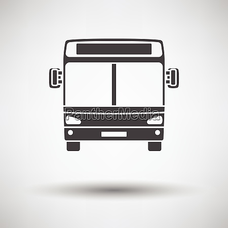 city, bus, icon, front, view - 26679511